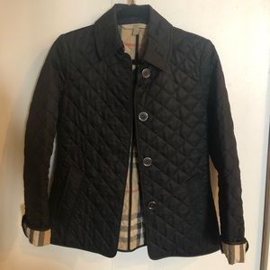 Burberry quilted button jacket